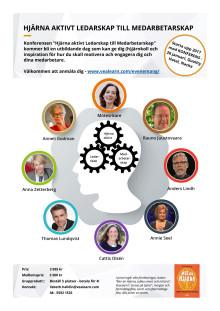 Konferens Hjärna Aktivt Ledarskap till Medarbetarskap 26 januari 2017