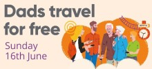 ​Dads travel for free this Father's Day