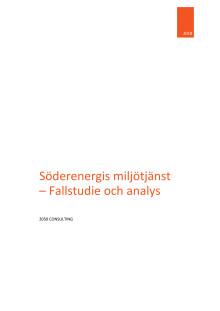 Söderenergis miljötjänst – Fallstudie och analys