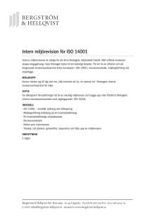 Intern revision för ISO 14001