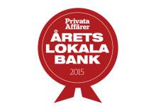 """Sörmlands Sparbank har utsetts till """"Årets Lokala Bank 2015"""" av Privata Affärer"""