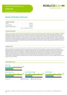 Siemens Industry Group Leader - Dow Jones Sustainability Index 2014