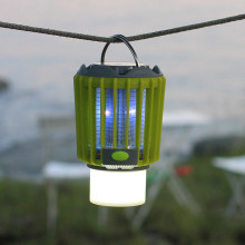 Portabel myggfälla med campinglampa