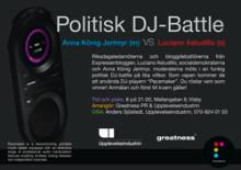 Politisk DJ-Battle mellan Socialdemokraterna och moderaterna i Almedalen