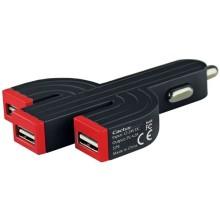 Kaktus designad billaddare med 3 USB-portar