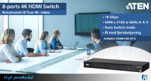 8-ports 4K HDMI Switch med True 4K