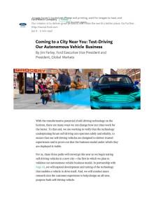 CES 2018: Fords selvkørende biler