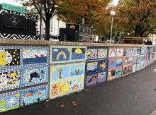 Välkommen till invigning av mosaikerna på muren runt Kungstorget