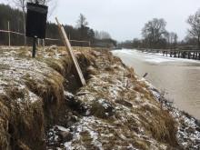 Skredet vid Tegelbruket ingen fara för kanalsäsongen