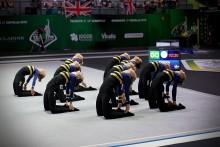 Guld för juniordamerna på JEM i truppgymnastik