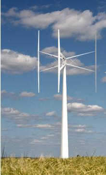 Landets första större vertikala vindkraftverk byggs i Falkenberg