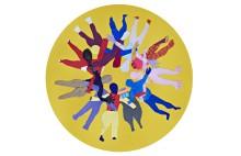 Konstgestaltning av Éva Mag i Santos idrottshallar väcker tankar om individen och kollektivet i rörelse