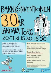 Affisch för firande av Barnkonventionen 30 år
