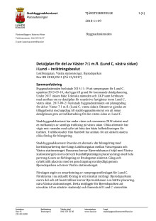 Tjänsteskrivelse för trafiklösning Lund C