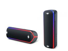 Nouvelle gamme d'enceintes EXTRA BASS Sony :  la puissance est de mise pour faire durer les soirées jusqu'au bout de la nuit