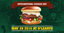 Internationella burgardagen den 28 maj - Join the burger party!