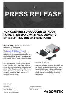 Run Compressor Cooler without Power for Days with New Dometic BP124 Lithium Ion Battery Pack