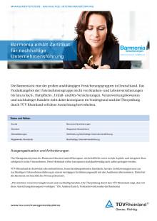 """Barmenia erhält Zertifikat """"Nachhaltige Unternehmensführung"""""""