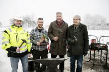 Idag bankade Mimer igång bygget av 160 prisvärda lägenheter på Bäckby