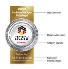 Das DGSV Prüfsiegel