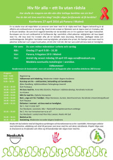 Konferens: Hiv för alla – ett liv utan rädsla