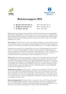 Bokslutsrapport 2014