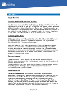 Fact Sheet Hepatitis