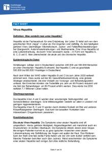 Fact Sheet Hepatitis