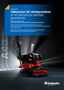 Pressinbjudan: Världspremiär för Indexators nya generation tiltrotatorer för moderna grävmaskiner på Bauma 2013