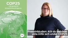 Pressinbjudan: Allt du behöver veta inför och under COP25
