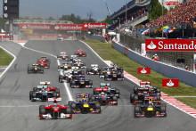Spänning fram till mållinjen i Spaniens GP