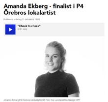 Amanda från Lindesberg - en av finalisterna i artisttävling