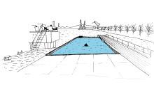 Klart för ett bad i Frihamnen/Älvstaden