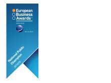 EET Europarts har vundet titlen som National Public Champion for Danmark i dette års European Business Awards