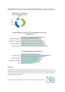 Faktablad från Naturvetarnas rapport Alla bestämmer, ingen bestämmer
