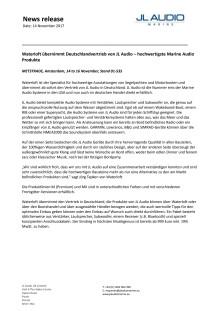 JL Audio Marine Europe: Waterloft übernimmt Deutschlandvertrieb von JL Audio – hochwertigste Marine Audio Produkte