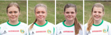 Fyra lovande talanger förlänger med Hammarby Damfotboll