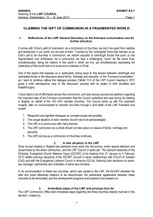 Lutherska världsförbundets samtalsdokument om kyrkogemenskap