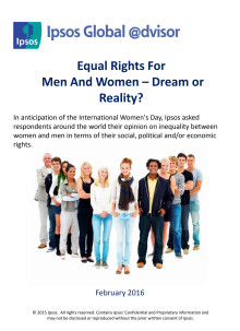 Equal rights for men and women - International Women's Day 2016