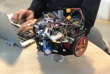 Minervagymnasium representerar Sverige i robot EM i Hannover.