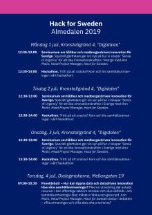 Fullständigt program – Almedalen 2019