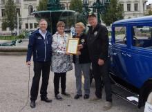 Kultur på väg-diplom till Sundsvalls motorveteraner