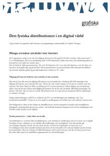 Grafiska Företagen: Den fysiska distributionen i en digital värld