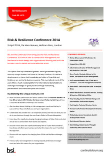 Risk and Resilience Conference