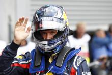 Vettel i pole position med sina Pirelli PZero inför Belgiens GP på Spa.