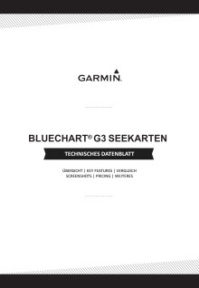 Datenblatt Garmin BlueChart G3 Seekarten
