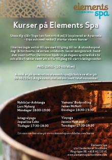 Kurser på Elements Spa 2012