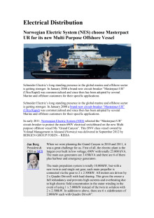 Masterpact UR from Schneider Electric chosen for new multi purpose Offshore Vessel