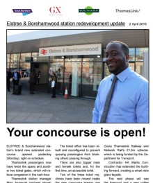 New station concourse opens at Elstree & Borehamwood
