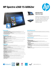 HP Spectre x360 Datasheet eng